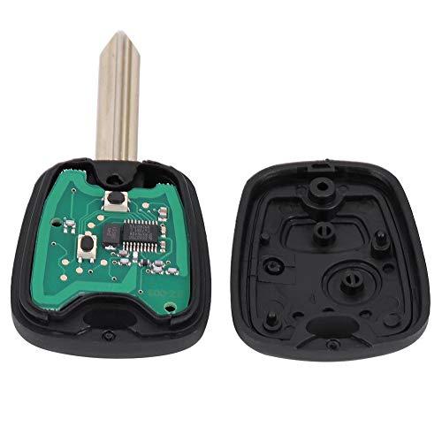 Llavero de coche de 2 botones, 433 MHz ID46 chips llave de coche de control remoto para Saxo Picasso Xsara Berlingo