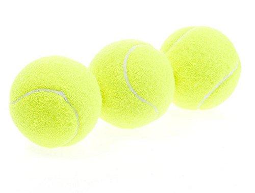 itemer 3Tennisbälle, Gelb Hohe Elastizität Bälle Sport Zubehör Cricket Hundespielzeug Ball, für Maschinen, spielen mit Haustieren, körperlicher Bildung.