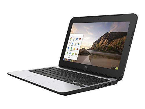 HP ChromeBook 11 G4 EE: 11.6-inch (1366x768) | Intel Celeron N2840 2.16GHz | 16GB eMMC SSD | 2GB RAM | Chrome OS - Black (Renewed)