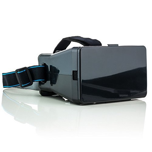 Saxonia Virtual Reality Universal 3D-Brille VR Headset Gaming Video Virtuelle Realität für Apple iPhone, Samsung Galaxy, Sony Xperia, Huawei und viele mehr