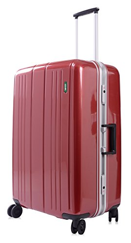 Lojel Superlative Frame Polycarbonate 27-inch Upright Spinner Luggage, Red