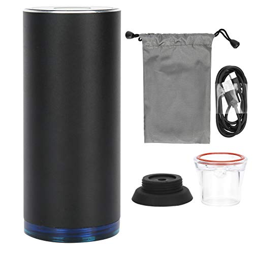 Asixxsix Wiederaufladbarer Vakuumierer, wiederaufladbarer Vakuumierer, hochfester Motor-USB-Vakuumierer für die Vakuumverpackung von Lebensmitteln für unterwegs