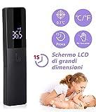 Termometro infrarossi, Termometro Frontale Infrarossi Senza Contatto, Termometri Medico con Display...