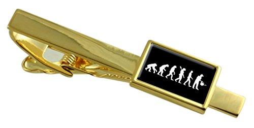 Select Gifts Evolution Ape in Mann Gärtner Gold-ton Tie Clip Wählen Sie Geschenk Tasche