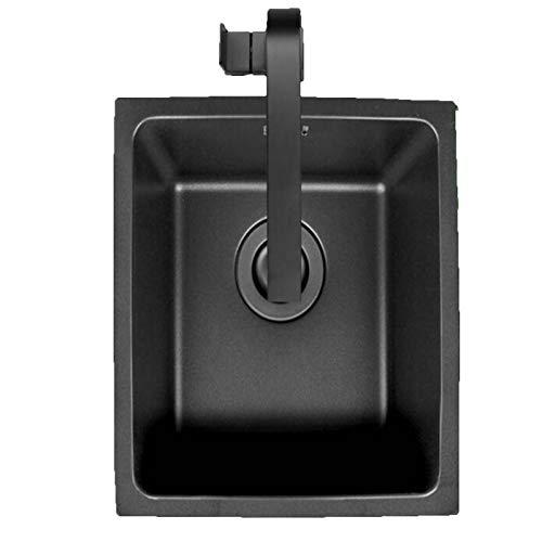 El nano fregadero no es fácil de manchar, el fregadero de acero inoxidable resistente al desgaste de gran capacidad es adecuado para la cocina, el ba?o y el hotel.