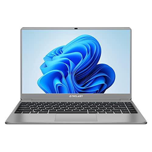 TECLAST Portátil 14 Pulgadas, Ordenador Portátil 8GB+256GB Notebook Laptop Intel Celeron N4120, Quad Core 2,6 GHz,1920 × 1080, Windows 10 de PC (USB 3.0, Mini HDMI, 45600mWh, QWERTY y Expandible SSD)
