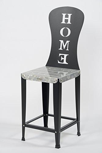 Styl'Métal 21 Lot 2 chaises Hautes Lilou Home métal Noir