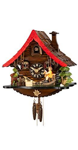 Engstler Reloj cucú Casa de la selva negra, balancín en movimiento