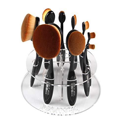Terilizi 10 Ovale Maquillage Brosse Titulaire Séchage Rack Organisateur Cosmétique Fondation Crème Poudre Blush Maquillage Brosse Ensemble Étagère Outils Kits