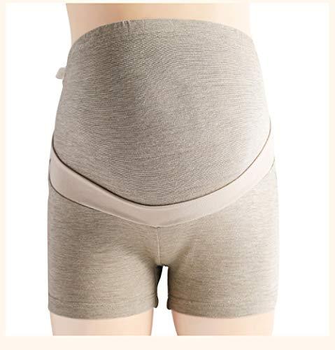 ZOULME Calzoncillos premamá para Mujer, Embarazo posparto Algodón y Fibra de Plata esterlina, con función de protección radiológica, tamaño Grande-Gris_L