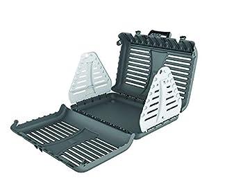 Rotho Toby Boîte de Transport Pliable pour Chats, Petits Chiens et Petits Animaux, Plastique (PP) sans BPA, Anthracite/Blanc, 53,4 x 42,5 x 12,4 cm