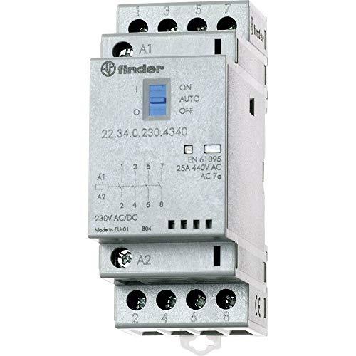 Finder Serie 22 Schalter, modular, 4 NA, 24 V, Schalter + Anzeige + LED