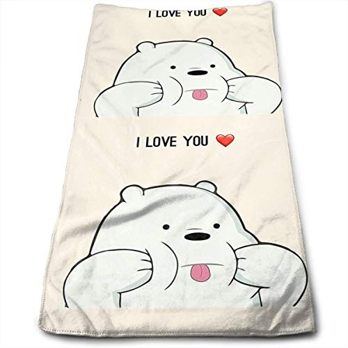 DDHHFJ I Love You We Bare Ice Bears Fashion Cool Fade-Resistant Absorbent Beach/Shower Towel
