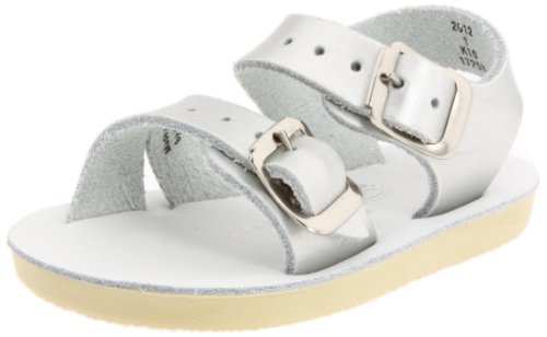Salt Water Sandals by Hoy Shoe Sea Wees,Silver,3 M US Infant