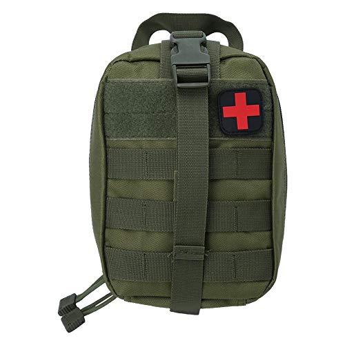 Demeras Outdoor Medical Emergency Bag Taktische Medical EMT Tasche für Outdoor-Reisen Erste-Hilfe-Kit Klettern Wanderrettungstasche(Grün)
