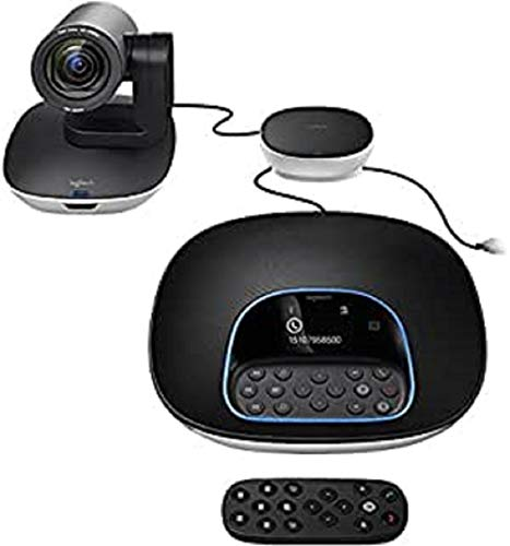 Logitech Group, Sistema de Webcam para Videoconferencia, Full HD 1080p/30fps, Enfoque Automático, Skype for Business, Teams, Zoom, Fuze, Hangouts Meet, Hardware, Cortana, Cisco Jabber, Portátil/PC/Mac