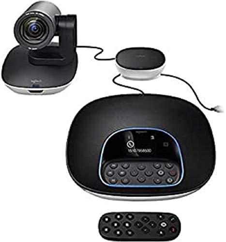 Logitech GROUP Videokonferenz-System, Bestehend aus Webcam, Freisprecheinrichtung & Fernbedienung, HD 1080p, 10-fach Zoom, Rauschunterdrückung, USB-Anschluss & Bluetooth, für größere Meetingräume