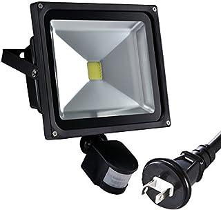 Succul LED投光器 50W 500W 人感センサー 昼光色 ポータブル投光器 広角ライト 3m配線 防水プラグ付 IP65屋外 軽量 防水加工