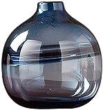 Vase Tumba de cristal hometransparente, arreglo de flores, decoración para el hogar, borde dorado, más brillante, diseño floral, color neutro, vidrio para flores (color: B)