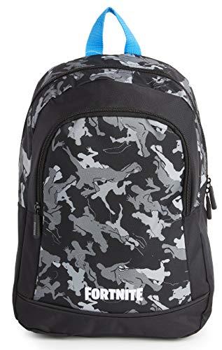 Fortnite Rucksack | Schulranzen Für Jungen Teenager Erwachsene Mädchen | Camouflage - Lama Schulrucksäcke, Kinderrucksack | Fortnite Merchandise (Schwarzes Medium)