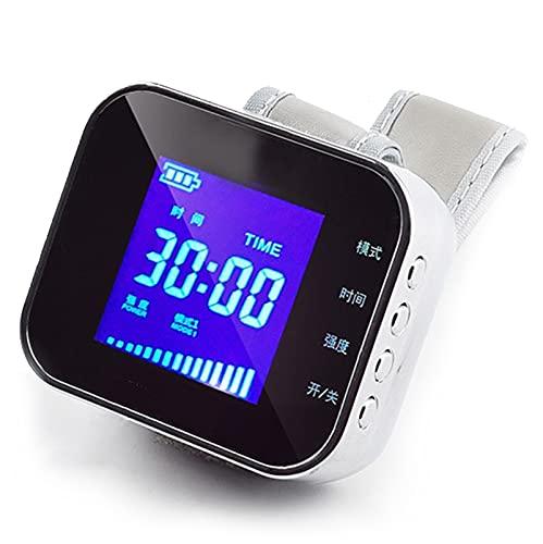 N\C 650 NM Reloj Pulsera Terapia Láser, Semiconductor Control Alto de azúcar en la Sangre Reloj de Terapia con láser Diabetes Rinitis Colesterol Hipertensión Acupuntura Láser