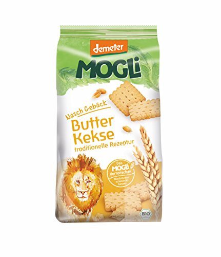 MOGLi Bio Demeter Butter Dinkel Kekse 7er Pack, (7 x 125 g)