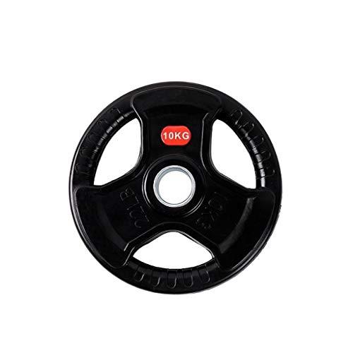Jiande Barbell Olímpicos Grip Peso Placas estándar de 2,5 kg, 10 kg, 15 kg, Individuales, Juegos de Placas Olímpicos, los Pesos de Placas Olímpicos, Negro (Size : 10kg)