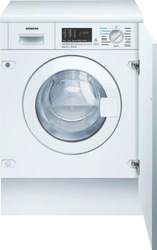 Siemens aquaStop WK14D540 - Secador empotrado (BAB, 1400 rpm, 6 kg, 102 kWh), color blanco