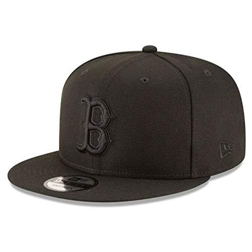 New Era Authentic Boston Redsox Black on Black 9Fifty Snapback Cap Adjustable 950