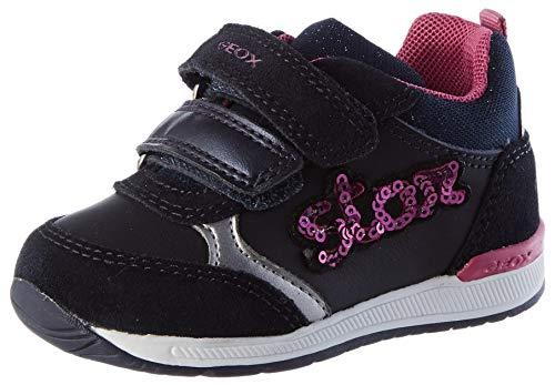 Geox Baby Mädchen B RISHON Girl B First Walker Shoe, (Dk Navy/Fuchsia), 26 EU