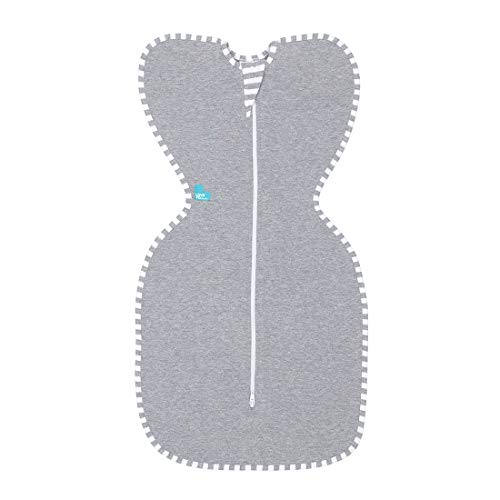 Love to Dream Swaddle UP, Gray, Medium, 13-19 lbs, Dramatically Better Sleep, Allow Baby to Sleep in Their Preferred arms up Position for self-Soothing, snug fit Calms Startle Reflex
