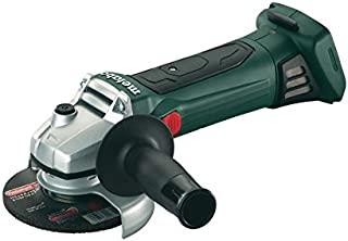 metabo W18LTX125-602174840 602174840 Quick Cordless Angle Grinder (Body Only) in Metaloc Case, 18 V, Green/Black, 1