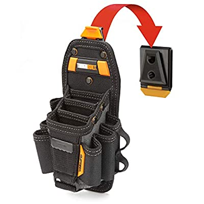 ToughBuilt - Technician Pouch - Pockets & Loop, Adjustable Holster, Snug-fit Screwdriver Loops, Secure Multi-Tool Holder Accessory (ClipTech Hub Included)