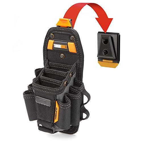 ToughBuilt - Technician 10 Pocket Pouch (Medium) | 14 Pockets & Loop, 3 Adjustable Holster, 6 Snug-fit Screwdrivers, Accessories, Secure Multi-Tool Holder (ClipTech Hub & Belts) - (TB-CT-36-M10)
