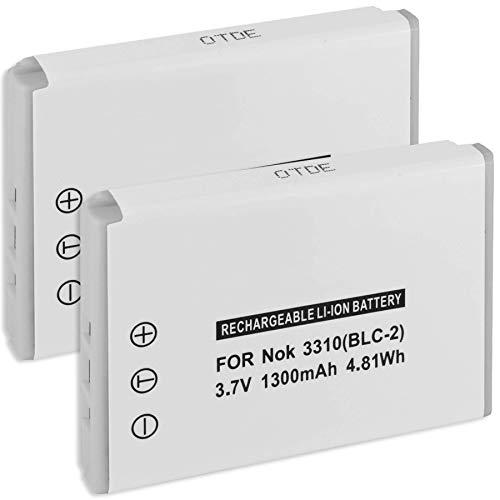 2x Batteria BLC-2 per Nokia 3310 (versione anno 2000) 3330, 3410, 3510, 3510i, 5510, 6650, 6800, 6810