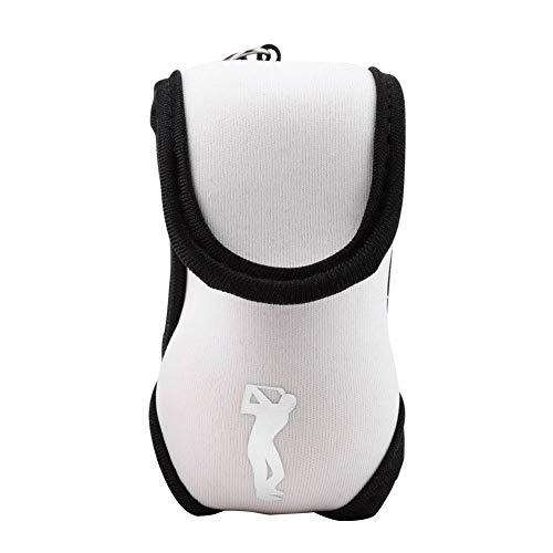 Mini Golf Ball Halter Tasche, Golf Ball Tasche mit Haken und Clip Golf Bag Zubehör(Weiß)