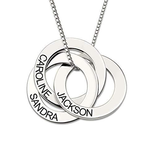 Cutygo Gravierte russische Ring Kette - Personalisiertes Geschenk für sie