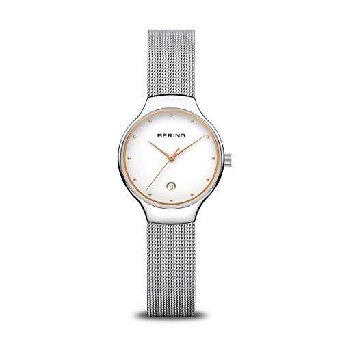 BERING Reloj Analógico Classic Collection para Mujer de Cuarzo con Correa en Acero Inoxidable y Cristal de Zafiro 13326-001