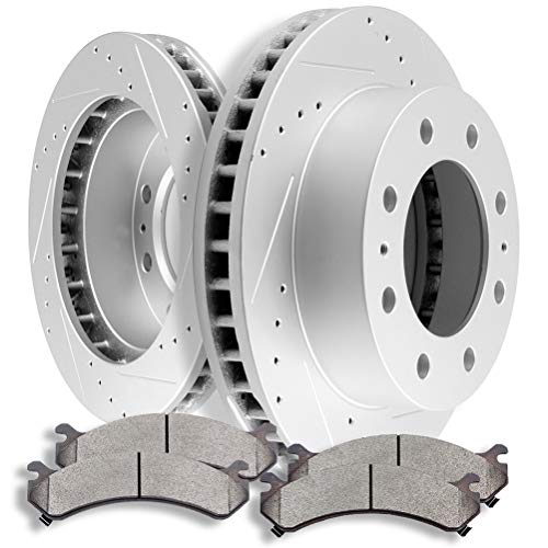 SCITOO Front Discs Brake Rotors and Ceramic Brake...