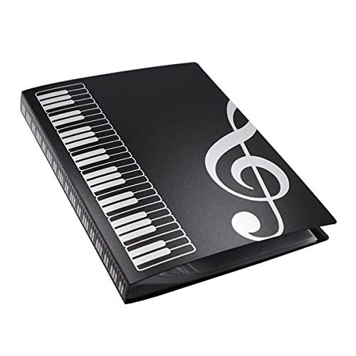 Notenmappe, A4 Notenständer für Notenschlüssel, Schwarz
