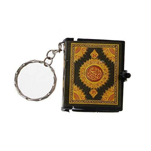 niumanery Mini Ark Quran Book Echtes Papier kann Arabisch lesen Der Koran Schlüsselbund Muslim Schmuck Gold