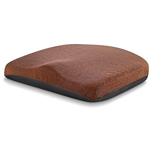 Tsumbay Chair Pad, Extra Soft Memory Foam Core Seat Cushion for Tailbone&Hip, Chair Cushion w/Non Slip Leather Bottom&Washable Cover for Home/Office Chair, Wheelchair, Car Seat - Brown