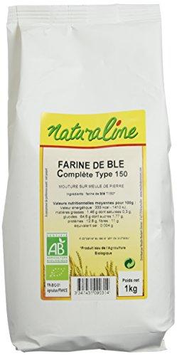 Moulin des Moines Farine de Blé Complète Extraction 95% Type 150 Mouture Fine Bio 1 kg - Lot de 5 (Épicerie)