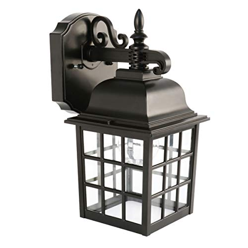 Feit Electric LED Black Lantern, Security Outdoor Light, 2700K, 2 pack (73897)