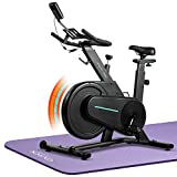 OVICX Magnetic Stationary Bike Belt Drive Indoor Cycling Workout Bike with Adjustable Professional Handlebar for home Gym