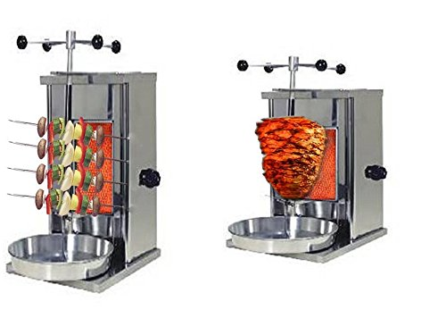TurcoBazaar Doner Kebab Shamarma Machine LPG Gas - One Stove Mini Doner Kebab Shamarma Machine REMTA