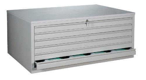 Zeichnungsschrank montiert und verschweißt DIN A1 Flachablageschrank Grafikschrank Planschrank Architektenschrank 6 Schubladen Stahl 565110