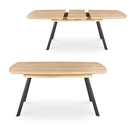MOBILIER DECO Table à Manger Extensible contemporaine Couleur chêne 6-8 Personnes Keiran