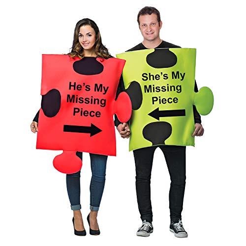 Tigerdoe Puzzle Piece Costume - Halloween Couple Costumes - Funny Adult Costumes - Novelty Costumes …