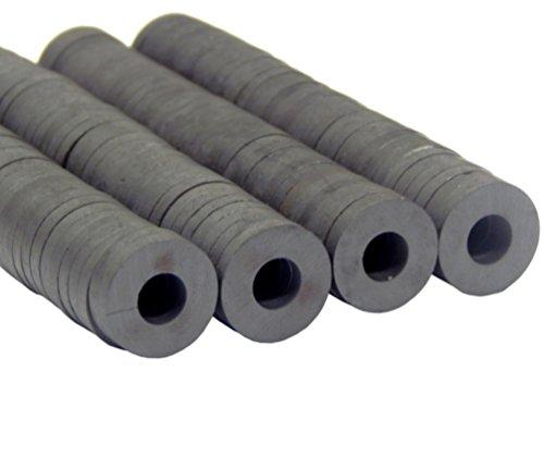 100stk. Ringmagnete, Ferrit Magnet 17mm x 3mm Basteln, Werkeln, Basteln und Dekorieren, Bastelzubehör magnetisch, Donut Form, Farbe Schwarz